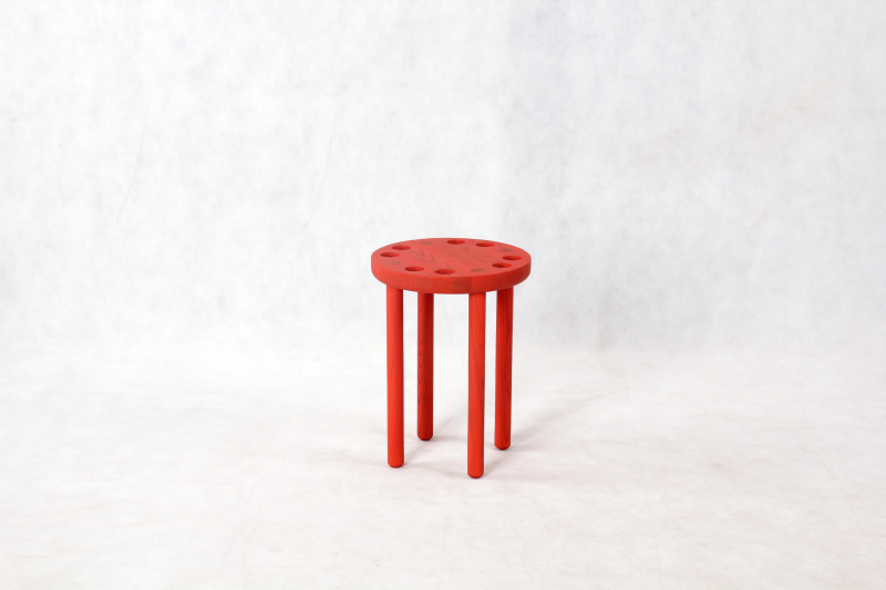 poke-stool-red-single-
