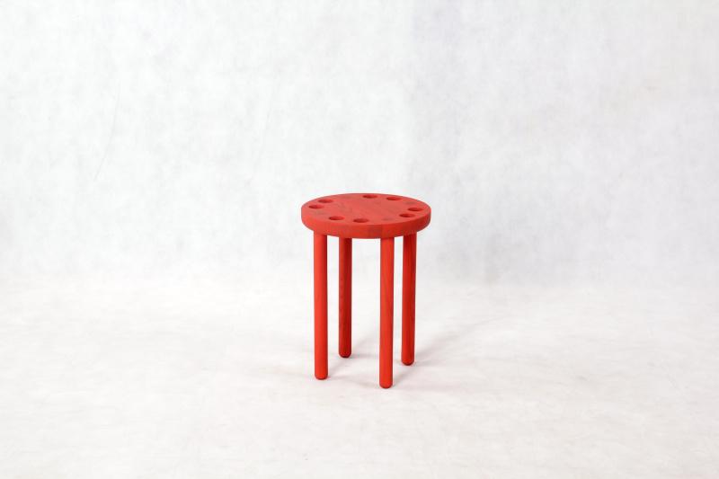 poke-stool-red-single-